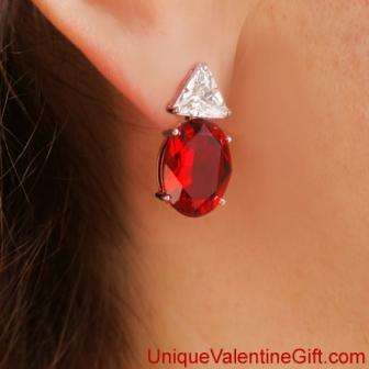 Carmen Lúcia Ruby Earrings